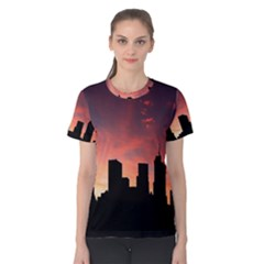 Skyline Panoramic City Architecture Women s Cotton Tee