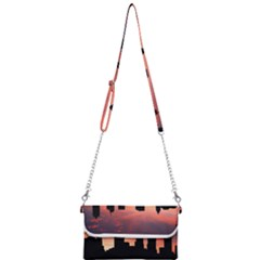 Skyline Panoramic City Architecture Mini Crossbody Handbag