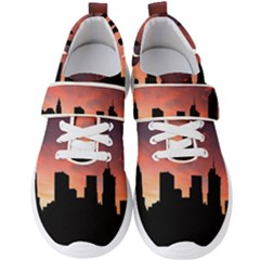Skyline Panoramic City Architecture Men s Velcro Strap Shoes