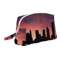 Skyline Panoramic City Architecture Wristlet Pouch Bag (medium)