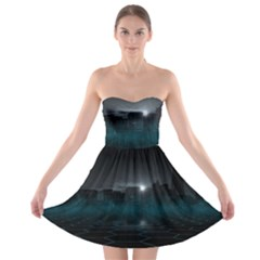 Skyline Night Star Sky Moon Sickle Strapless Bra Top Dress