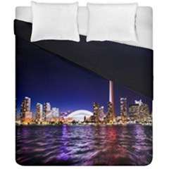 Toronto City Cn Tower Skydome Duvet Cover Double Side (california King Size)