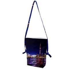 Toronto City Cn Tower Skydome Folding Shoulder Bag