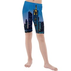 Frankfurt Germany Panorama City Kids  Mid Length Swim Shorts