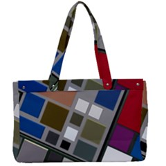 Abstract Composition Canvas Work Bag by Sudhe