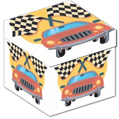 Automobile Car Checkered Drive Storage Stool 12