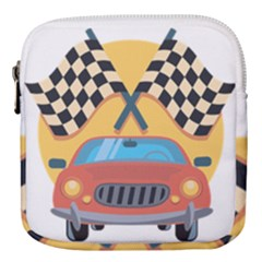 Automobile Car Checkered Drive Mini Square Pouch