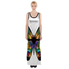 Abstract Animal Art Butterfly Maxi Thigh Split Dress