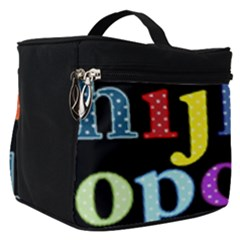 Alphabet Letters Colorful Polka Dots Letters In Lower Case Make Up Travel Bag (small)