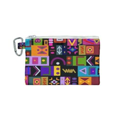 Abstract A Colorful Modern Illustration Canvas Cosmetic Bag (small)