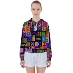 Abstract A Colorful Modern Illustration Women s Tie Up Sweat by Sudhe