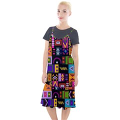 Abstract A Colorful Modern Illustration Camis Fishtail Dress
