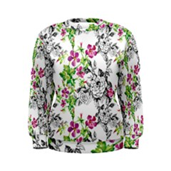 Drawing Flowers Women s Sweatshirt