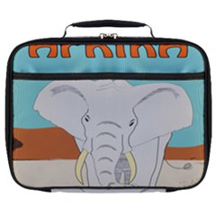 Africa Elephant Animals Animal Full Print Lunch Bag by Sudhe