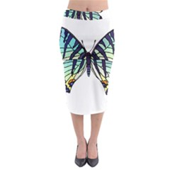 A Colorful Butterfly Midi Pencil Skirt