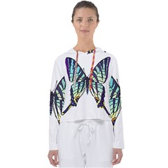 A Colorful Butterfly Women s Slouchy Sweat