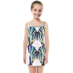A Colorful Butterfly Kids  Summer Sun Dress