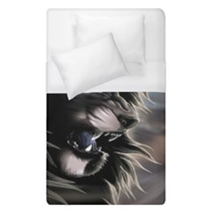 Angry Lion Digital Art Hd Duvet Cover (single Size)