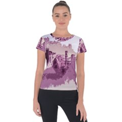 Abstract Painting Edinburgh Capital Of Scotland Short Sleeve Sports Top  by Sudhe