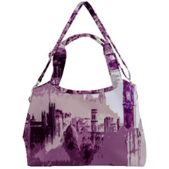 Abstract Painting Edinburgh Capital Of Scotland Double Compartment Shoulder Bag