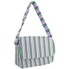 Candy Stripes 2 Courier Bag by retrotoomoderndesigns