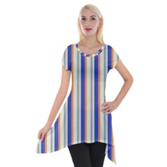 Candy Stripes 3 Short Sleeve Side Drop Tunic