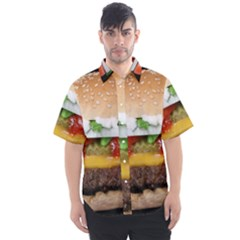 Abstract Barbeque Bbq Beauty Beef Men s Short Sleeve Shirt