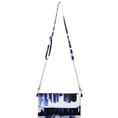 Abstract Of Downtown Chicago Effects Mini Crossbody Handbag