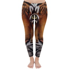 The Tiger Face Classic Winter Leggings