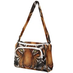The Tiger Face Front Pocket Crossbody Bag