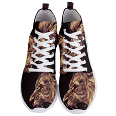 Angry Male Lion Gold Men s Lightweight High Top Sneakers