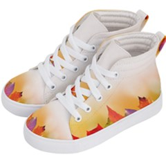 Autumn Leaves Colorful Fall Foliage Kids  Hi Top Skate Sneakers by Sudhe