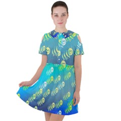 Animal Nature Cartoon Wild Wildlife Wild Life Short Sleeve Shoulder Cut Out Dress