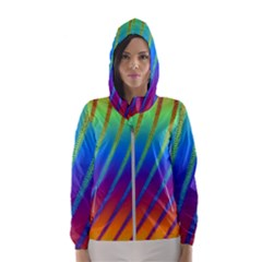 Abstract Fractal Multicolored Background Hooded Windbreaker (women)