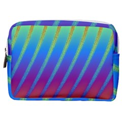 Abstract Fractal Multicolored Background Make Up Pouch (medium)