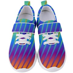 Abstract Fractal Multicolored Background Women s Velcro Strap Shoes