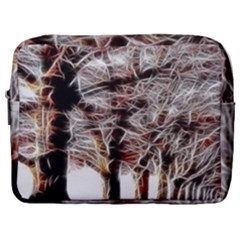 Autumn Fractal Forest Background Make Up Pouch (large)
