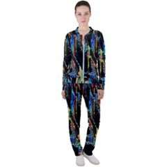 Abstract 3d Blender Colorful Casual Jacket And Pants Set