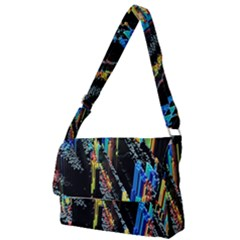 Abstract 3d Blender Colorful Full Print Messenger Bag