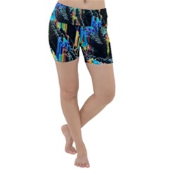 Abstract 3d Blender Colorful Lightweight Velour Yoga Shorts