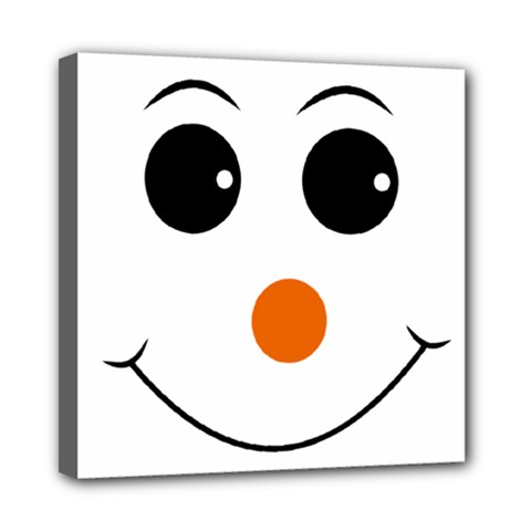 Happy Face With Orange Nose Vector File Mini Canvas 8  X 8  (stretched) by Sudhe