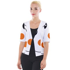 Happy Face With Orange Nose Vector File Cropped Button Cardigan