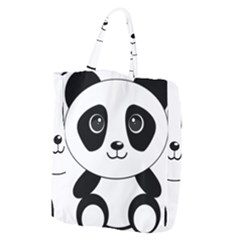 Bear Panda Bear Panda Animals Giant Grocery Tote