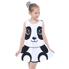 Bear Panda Bear Panda Animals Kids  Summer Dress by Sudhe