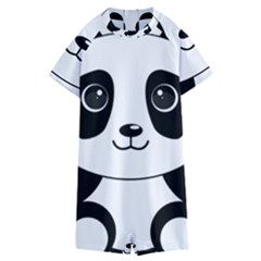 Bear Panda Bear Panda Animals Kids  Boyleg Half Suit Swimwear