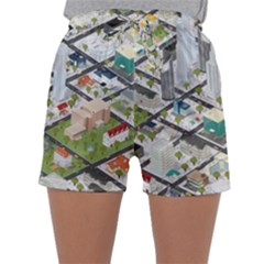 Simple Map Of The City Sleepwear Shorts