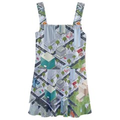Simple Map Of The City Kids  Layered Skirt Swimsuit by Sudhe