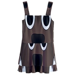 Dog Pup Animal Canine Brown Pet Kids  Layered Skirt Swimsuit