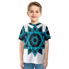 Transparent Triangles Kids  Sport Mesh Tee by Sudhe