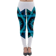 Transparent Triangles Lightweight Velour Leggings